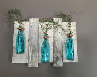 Wall vase, rustic wall vase holder, wall vase holder, vase decor, wall decor, home decor