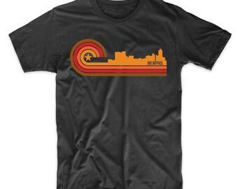 Retro Style Memphis Tennessee Skyline T-Shirt