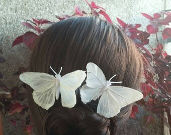 White Feathered butterfly headdress
