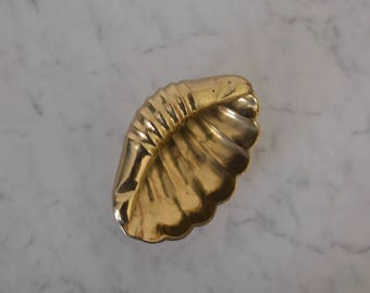 Vintage Brass Seashell Catchall Dish From The 70's Made in India