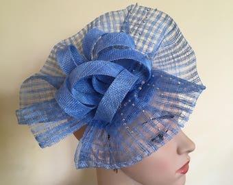 Blue Fascinator,Wedding Hat Blue,Blue Hat,Fascinator Blue,Wedding Hats and Fascinators,Blue Ascot Fascinator,Fascinators blue,Hat Blue