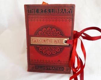 Vintage theme junk journal,  keepsake book, altered book, diary, scrapbook, photo album, memories book