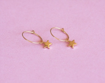 Star earrings / star earrings