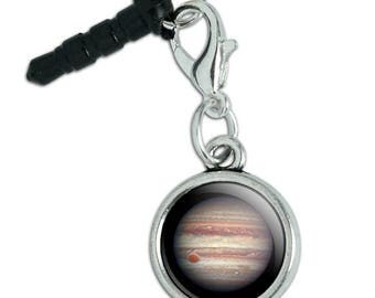 Planet Jupiter Solar System Mobile Cell Phone Headphone Jack Anti-Dust Charm fits iPhone iPod Galaxy