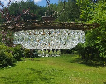 Very exquisite large late 1940's vintage French half empire style chandelier (B18)