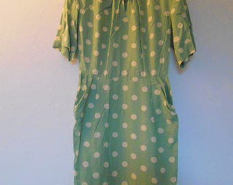 Vintage 1980's sage green dress