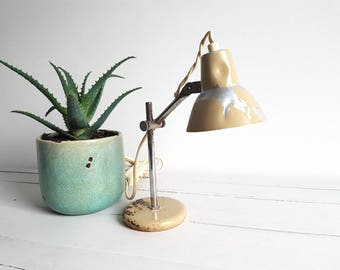 old industrial little desk lamp