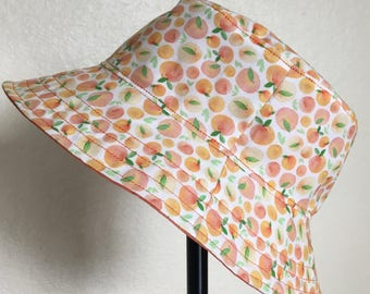 Sun Hat Bucket Hat Peaches Summer for Babies and Kids!