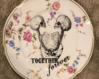 Altered Siamese Twins Together Forever Decorative Plate