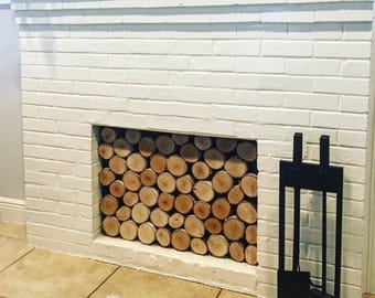 Fireplace birchwood insert / cover