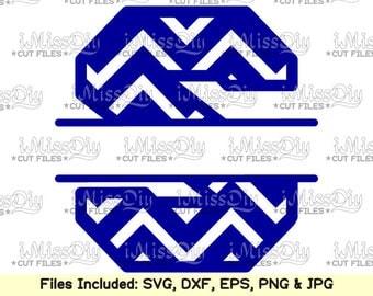 Split Monogram letter Font svg Alphabet Chevron Letters Svg Files for Cricut Silhouette Dxf svg design CUT FILES, Digital fonts cutting file