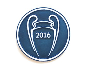 "2016 Champions Soccer Trophy Velvet Iron on Embroidered patch (3.0"")"