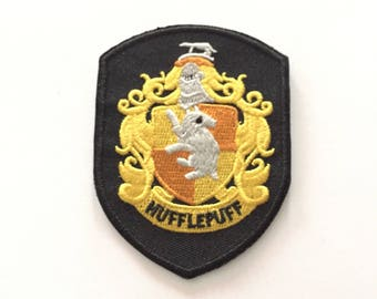 """Hufflepuff Iron/sewn on Embroidered patch (W=2.25"""" x L=3.0"""")"""