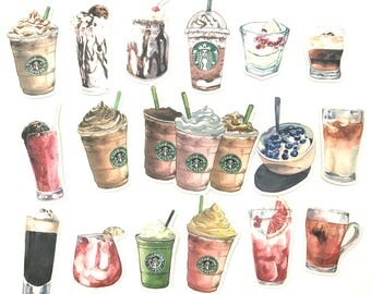 Starbucks Coffee Stickers (17 pieces) - Set A