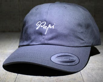 Papi - choose hat color dad hat with embroidery