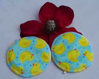 Reusable Cute Chick Print Breast Pads. Breathable, Light, Non-slip, Heavy Absorbency Nursing Pads. *Ship Worldwide*.