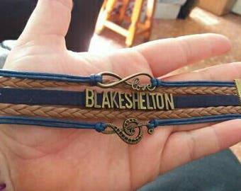 Unisex Personalized Music Infinity Bracelet