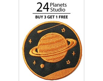 Saturn#1 Planet Iron on Patch by 24PlanetsStudio