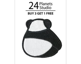 Cute Panda Backside Iron on Patch by 24PlanetsStudio