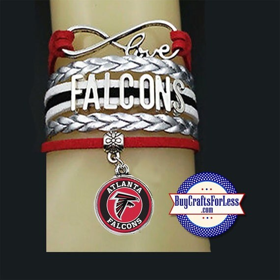 ATLANTA Custom Leather Sports Bracelet, U CHOOSE Charm +FREE Shipping & Discounts*