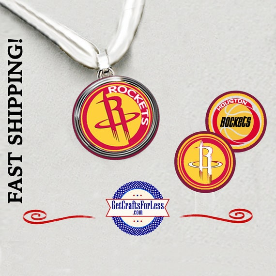 HOUSTON Basketball PENDaNT, CHooSE from 3 Designs and Ribbon Cord - Super CUTE!  +FREE SHiPPiNG & Discounts*