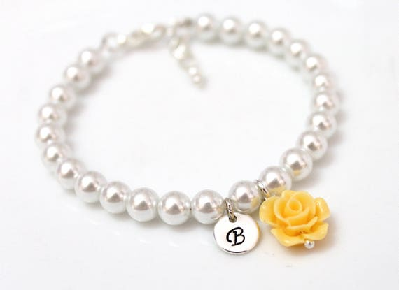 Flower Girl Bracelet Kids Wedding Jewelry Childrens