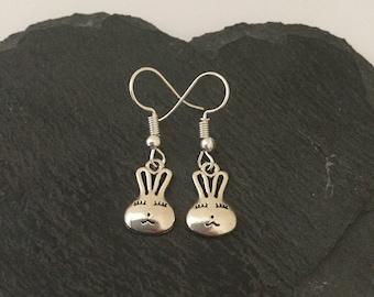 Bunny earrings / rabbit jewellery / pet jewellery / animal jewellery / animal lover gift