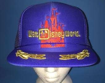 Vintage Walt Disney World trucker snapback Hat 1980s