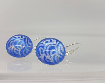 Painted and hand polished earrings