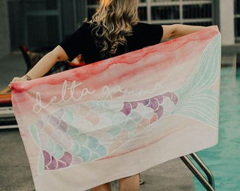 Mermaid Tail Beach Towel (available for multiple organizations!)