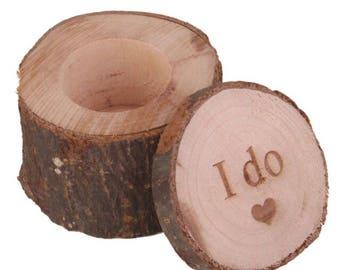 """1 PC """"I Do"""" Wedding Ring Box, Rustic Ring Box, Wood Ring Box, Wooden Ring Box, Ring Box, Rustic Wedding, Wedding, Wedding Ring Holder"""