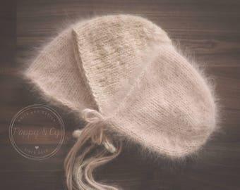 Simple Newborn Bonnet Pattern, Knitting Pattern, PDF, Simple Knit Newborn Photography Prop Bonnet Pattern, Simple Knit Bonnet Pattern