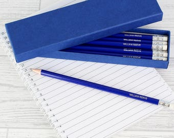 12 HB Pencils Personalised with Name - Quality Printed Pencils Back to school