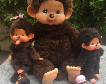 Bebechhichi Monchhichi small monkey doll Sekiguchi 1980s