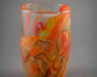 Red and Orange Pint Glass