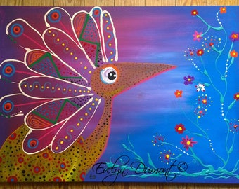 """Chameleon"" Evelyn Dumont artist canvas"