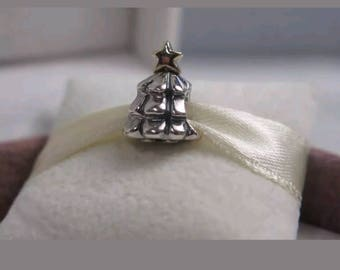 Pandora Christmas Tree Charm/New/Ale/s925/Sterling Silver/Threaded Core