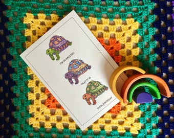 Three Tortoises Greetings Card