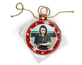 Game of Thrones Arya Stark Maisie Williams Christmas Ornament