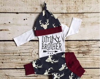 GET 20% OFF TODAY Baby Boy Coming Home Outfit, newborn boy coming home outfit, newborn boy, little brother, woodland