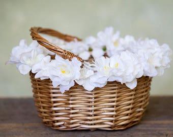 Flowergirl Basket, Flower Girl, Wedding, Wedding Basket, Flower Girl Accessories, Rustic Flower Girl Basket, Boho Wedding Accessories
