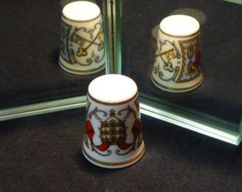 Papal Visit 1982 Royal Worcester Fine Bone China Thimble
