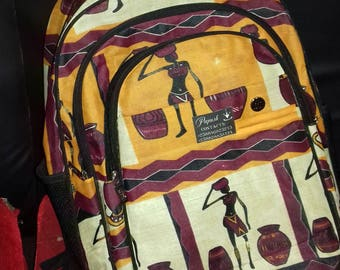 Backpack in African Fabric