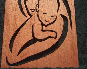 Mother and Baby Cut Out