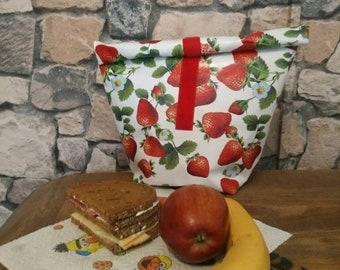Oilcloth, Bag, Lunchbags, lunchbox, lunch bag, breakfast bag, bread bag, fruit bag, breakfast, banana, strawberry, bikini bag, dog food