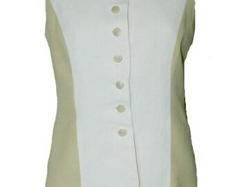 Betty Barclay Linen Waistcoat. Size 10. Vintage 1980s.