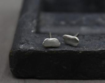 Women silver earrings, Silver cloud studs, Silver stud earring, Bridesmaid earrings, Cloud earrings, Unique gift for her, Delicate earrings