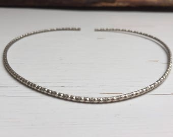 Diamond cut Silver choker