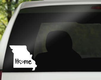 Missouri Decal, State Decal, Home Decal, State Car Decal, Laptop Decal, Tumbler Decal, Home Car Decal, Vinyl Decal, Water Bottle Decal