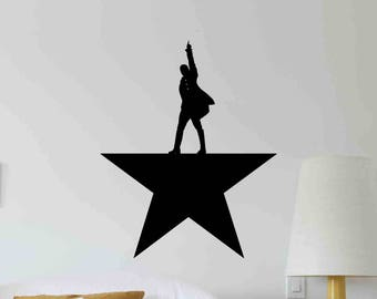 Alexander Hamilton Wall Decal American Political Star Office Vinyl Sticker Gift Home Room Bedroom Decor Poster Art Mural Custom Print 702